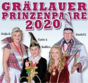 Prinzenpaare 2020Michael und Katja Weide, Emilia Metz und Carlo Scherer