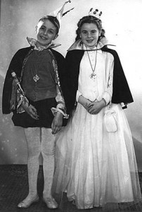 Kleines Prinzenpaar 1958:Willi Lang u. Helga Tröster