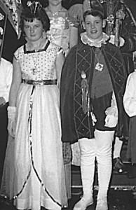 Kinderprinzenpaar 1962Manfred Bender u. Ilona Streb