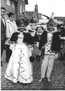 Kinderprinzenpaar 1965Burkhard Strasheim & Bettina Thomas