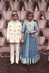 Kinderprinzenpaar 1971Andre Schmitt u. Ina Bender