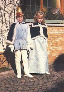 Kinderprinzenpaar 1974Andre Wetz u. Claudia Wissner