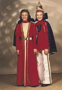 Kinderprinzenpaar 1976Andreas Maier und Cornelia Gilbert