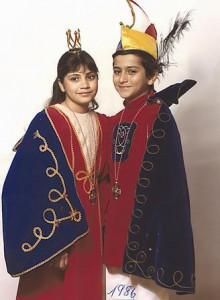 Kinderprinzenpaar 1986Michael u. Priscilla Lopez