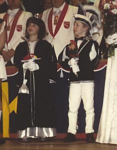 Kinderprinzenpaar 1988Thomas Weppler u. Nina Schwab