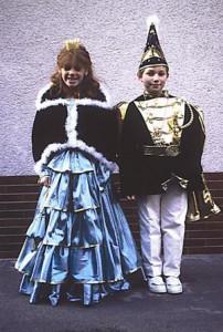 Kinderprinzenpaar 1989Christian Schreiber u. Katja Bender