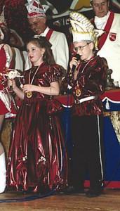 Kinderprinzenpaar 1995Martin Pohle u. Julika Petry