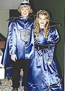 Kinderprinzenpaar 1996Johannes Metzger u. Asina Schwarz