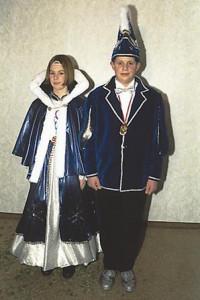Kinderprinzenpaar 1997Fabian Neumeier  u. Christina Schepp