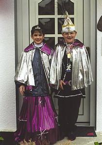 Kinderprinzenpaar 1998Tobias Stowasser u. Julia Hachenburger