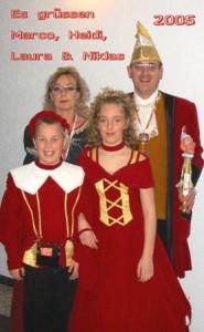Kinderprinzenpaar 2005Laura und Niklas Kopf